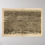 Philadelphia Penn 1872 Antique Panoramic Map Poster