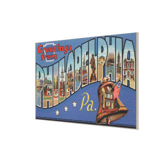 Philadelphia, Pennsylvania - Large Letter Canvas Print