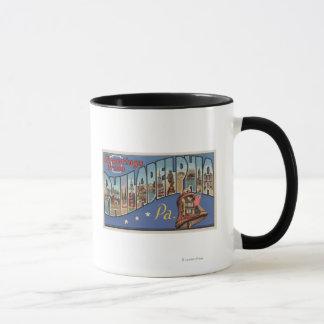 Philadelphia, Pennsylvania - Large Letter Mug
