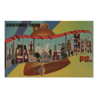 Philadelphia, Pennsylvania (Liberty Bell) Poster