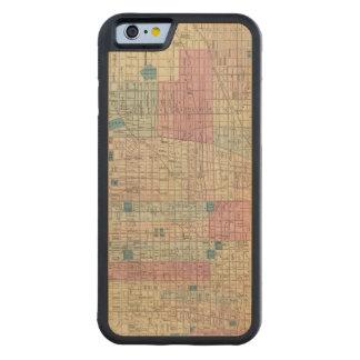 Philadelphia, Pennsylvania Map Carved® Maple iPhone 6 Bumper Case
