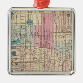 Philadelphia, Pennsylvania Map Christmas Ornament
