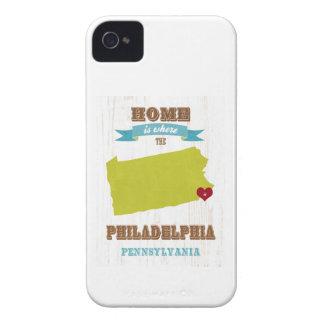 Philadelphia, Pennsylvania Map – Home Is Where The iPhone 4 Case