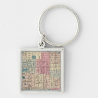Philadelphia, Pennsylvania Map Key Ring