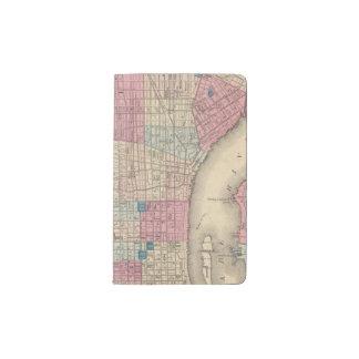 Philadelphia, Pennsylvania Map Pocket Moleskine Notebook