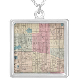 Philadelphia, Pennsylvania Map Silver Plated Necklace