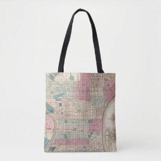Philadelphia, Pennsylvania Map Tote Bag