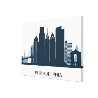 Philadelphia, Pennsylvania | Monochromatic City Canvas Print
