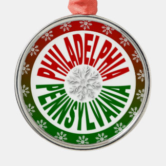 Philadelphia Pennsylvania red green ornament