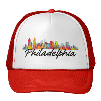Philadelphia Pennsylvania Skyline Mesh Hats