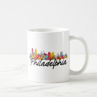 Philadelphia Pennsylvania Skyline Mugs