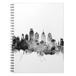 Philadelphia Pennsylvania Skyline Note Books
