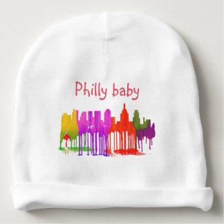 PHILADELPHIA PENNSYLVANIA SKYLINE PUDDLES  - BABY BEANIE