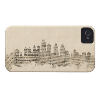 Philadelphia Pennsylvania Skyline Sheet Music City iPhone 4 Cases
