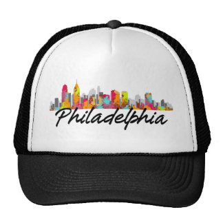 Philadelphia Pennsylvania Skyline Trucker Hats