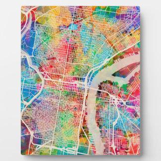 Philadelphia Pennsylvania Street Map Plaque