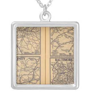 Philadelphia, Pittsburgh, Richmond Silver Plated Necklace