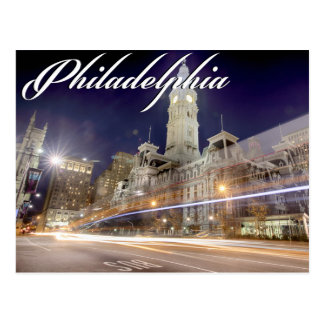"Philadelphia Post Card "" City Hall at Night"""
