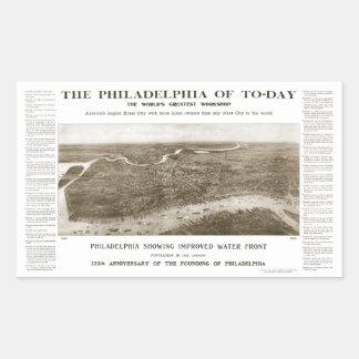 Philadelphia Rectangular Sticker