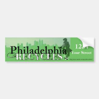 Philadelphia Recycles (Skyline & Penn) Bumper Sticker