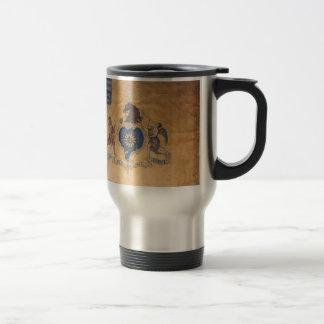 Philadelphia regimental flag stainless steel travel mug