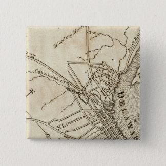 Philadelphia Road Map 15 Cm Square Badge