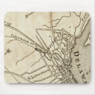 Philadelphia Road Map Mouse Mat