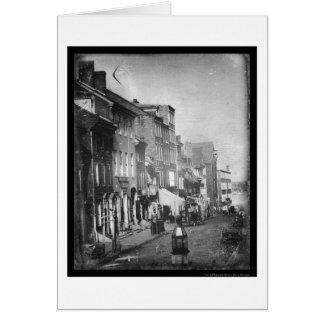 Philadelphia Scene Daguerreotype 1842 Card