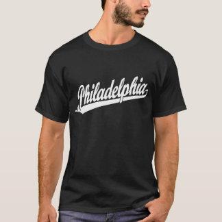 Philadelphia script logo in white T-Shirt