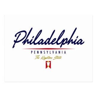 Philadelphia Script Postcard
