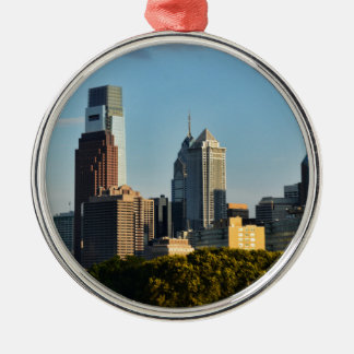 Philadelphia Silver-Colored Round Decoration