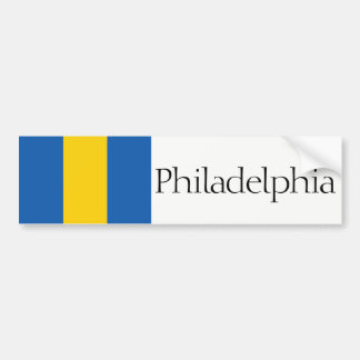 Philadelphia simplified city flag bumper sticker