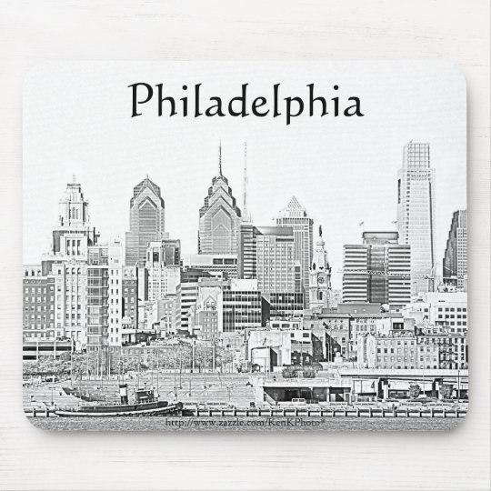 Philadelphia Sketch Mousepad