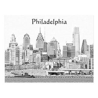 Philadelphia Sketch Postcard