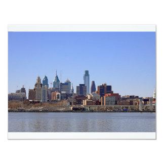 Philadelphia Skyline 11 Cm X 14 Cm Invitation Card