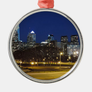 Philadelphia Skyline at Dusk Christmas Ornament