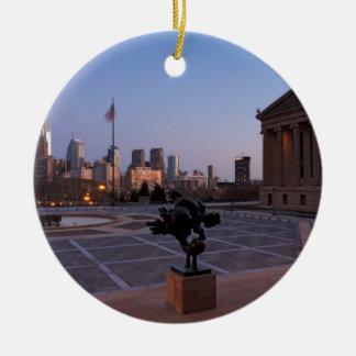 Philadelphia Skyline at Dusk Christmas Ornament