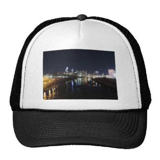 Philadelphia Skyline at Night Mesh Hat