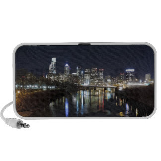 Philadelphia Skyline at Night Notebook Speaker