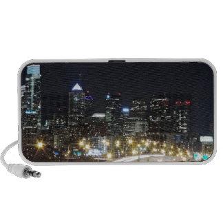 Philadelphia Skyline at Night Notebook Speakers