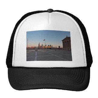 Philadelphia Skyline at Sunset Mesh Hat