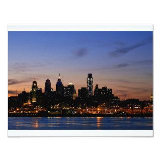 Philadelphia Skyline at Twilight 11 Cm X 14 Cm Invitation Card