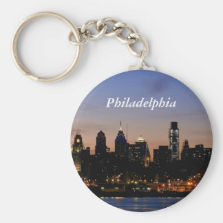 Philadelphia Skyline at Twilight Key Ring