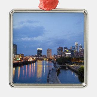 Philadelphia skyline christmas ornament