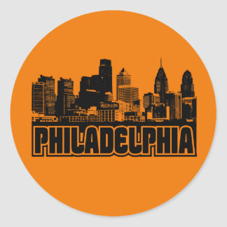Philadelphia Skyline Classic Round Sticker