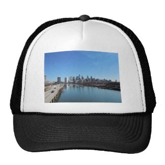 Philadelphia Skyline Mesh Hat