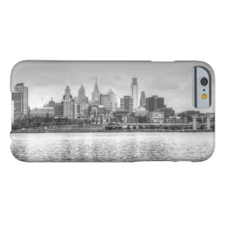 Philadelphia skyline in black and white barely there iPhone 6 case