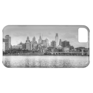 Philadelphia skyline in black and white iPhone 5C cover