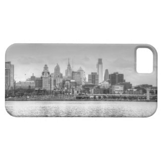 Philadelphia skyline in black and white case for the iPhone 5