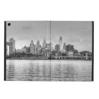 Philadelphia skyline in black and white cover for iPad air